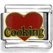 Red Heart Cooking Enamel Charm