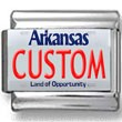Arkansas License Plate Custom Charm
