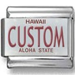 Hawaii License Plate Custom Charm
