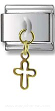 Dangle Gold Cross