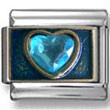 Blue Zirconia Heart