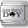Saint Patty's Day Laser Charm