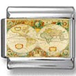 Antique Map of the World Photo Charm
