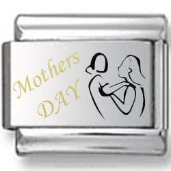 Mother's Day Black and Gold Laser Charm