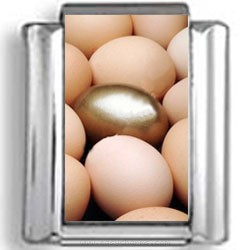 Golden Egg Photo Charm